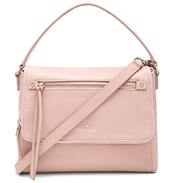 Kate Spade New York Small toddy crossbody bag in beige - Leather exterior with printed fabric lining. Detachable...