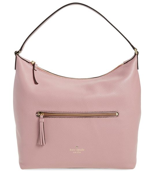 KATE SPADE NEW YORK Spencer court - Softly pebbled leather adds rich texture to a perfectly...