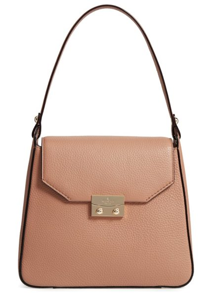 KATE SPADE NEW YORK stewart street lynea leather satchel - An easy over-the-shoulder handle tops a structured...
