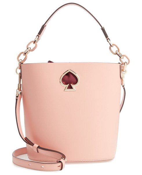 Kate Spade New York suzy small leather bucket bag in pink
