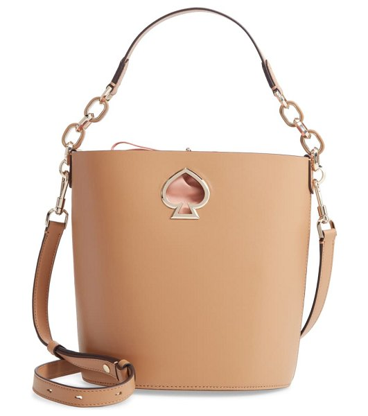 Kate Spade New York suzy small leather bucket bag in brown