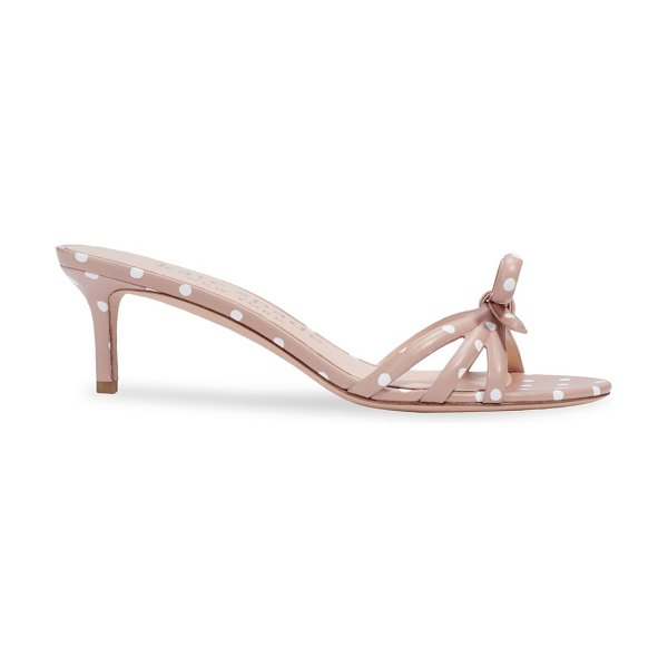 Kate Spade New York swing bow high heel sandals in light fawn