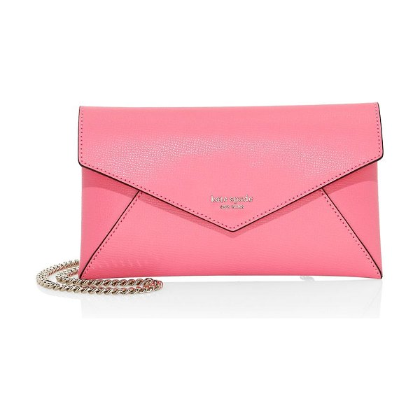 Kate Spade New York sylvia leather chain clutch in pink