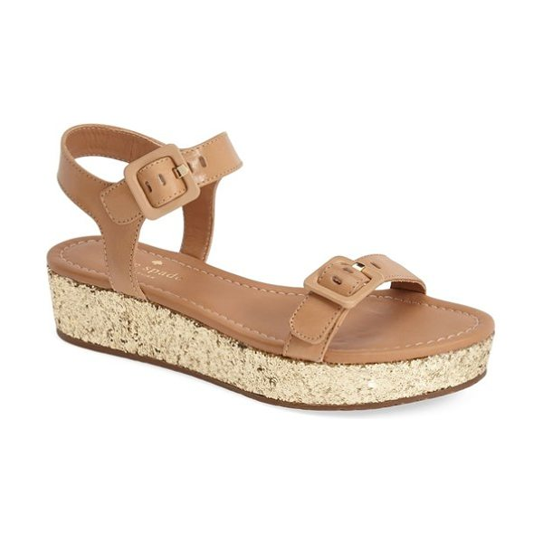 Kate Spade New York teigan platform sandal in natural