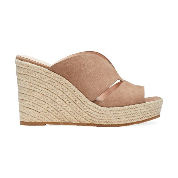 Kate Spade New York tropez suede espadrille wedge mules in roasted almond