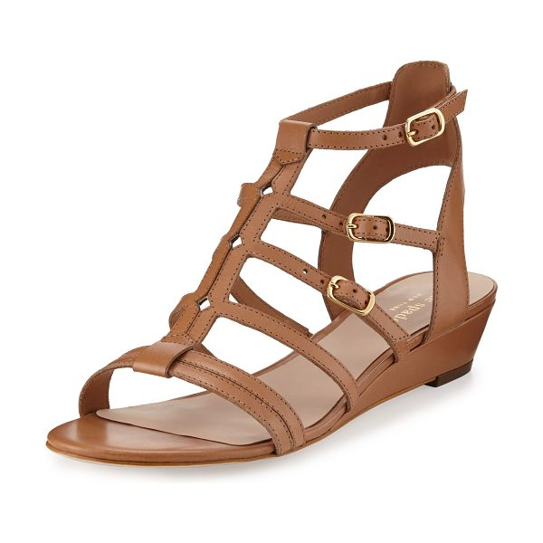 Kate Spade New York Valetta leather demi-wedge gladiator sandal in light luggage - kate spade new york vachetta leather gladiator sandal....