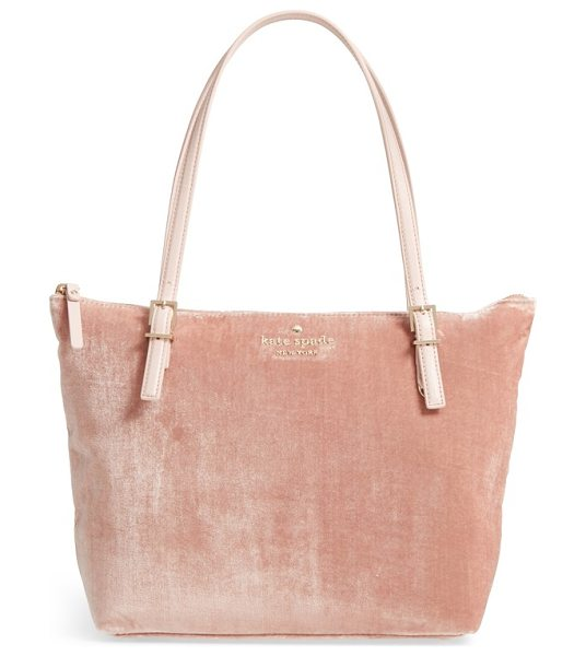Kate Spade New York watson lane small maya velvet tote in warm ginger - Trend-forward velvet blended with silk threads lends a...