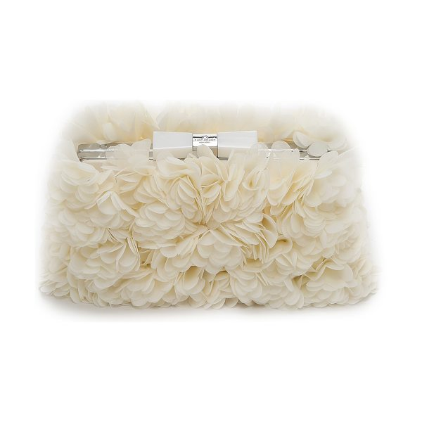 Kate Spade New York Wedding belles flower minaudiere in bridal cream
