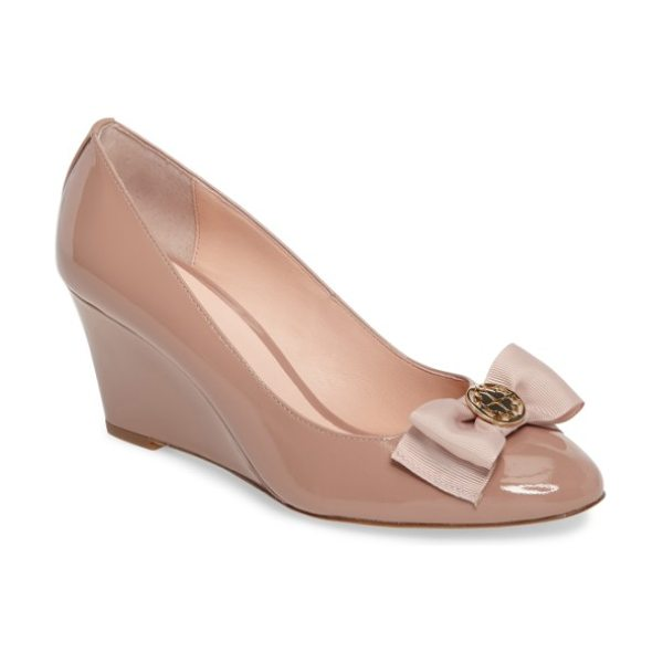 KATE SPADE NEW YORK wescott wedge pump - Liquid-shine patent leather clads a gorgeously contoured...