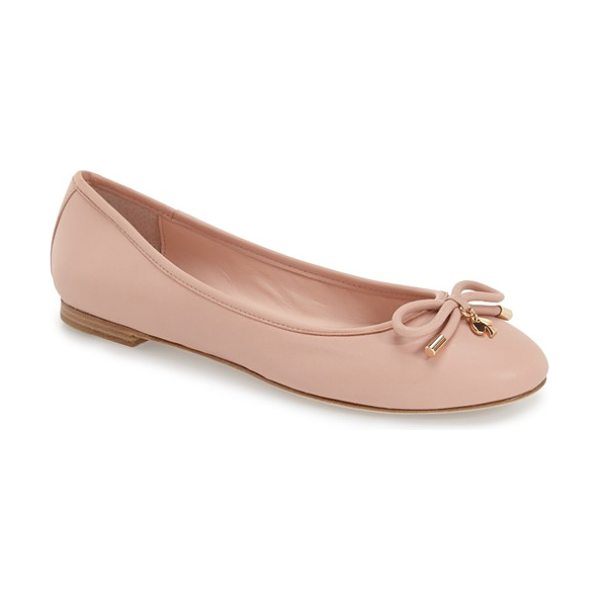 KATE SPADE NEW YORK willa skimmer flat - A prim, charm-embellished bow lends unmistakable...