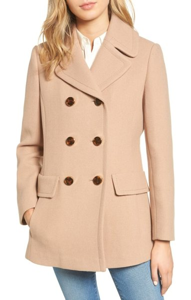 Kate Spade New York wool blend peacoat in camel - Ideal for autumnal strolls with dry leaves under your...