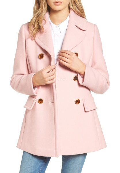 KATE SPADE NEW YORK wool blend peacoat - Ideal for autumnal strolls with dry leaves under your...