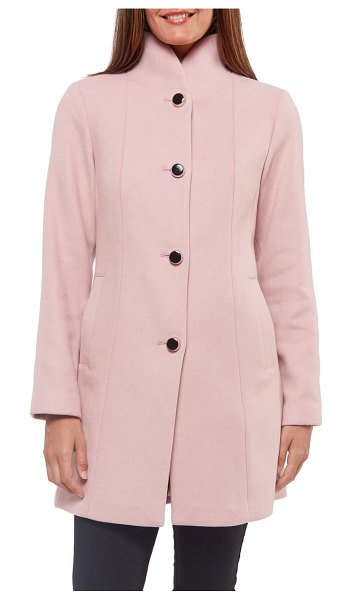 Kate Spade New York wool blend twill coat in pink