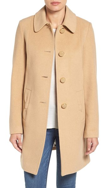 Kate Spade New York wool blend walking coat in camel - Classic and sophisticated but with a playful twist, this...