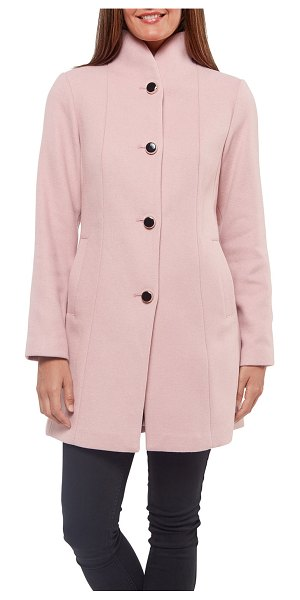 Kate Spade New York wool-twill button coat in chalk pink