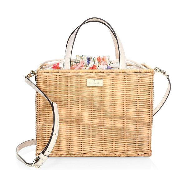 KATE SPADE NEW YORK woven straw sam bag in natural - From the Woven Straw Key Items collection. Woven tote...