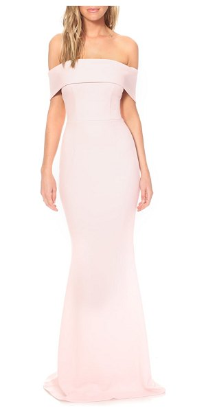 Katie May legacy crepe body-con gown in pink