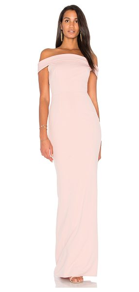 "Katie May Legacy Gown in pink - ""Self: 97% poly 3% spandexLining: 100% poly. Dry clean..."