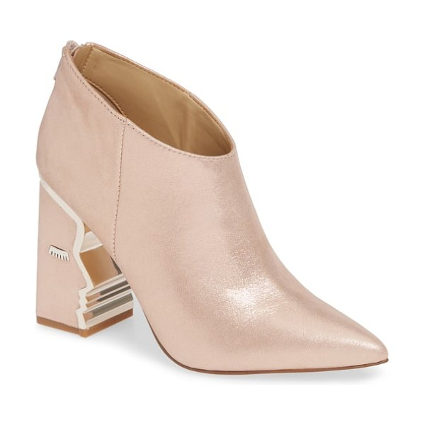 Katy Perry ankle bootie in pink - The wow factor of a shimmering pointy-toe bootie is...