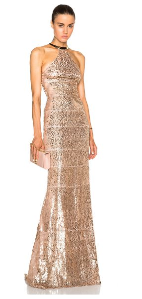 Kaufman Franco Burnt degrade gown in metallics - Silk blend.  Made in USA.  Fully lined.  Sequin...
