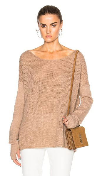 Kaufman Franco Cashmere Gauze Sweater in ginger - 74% cashmere 26% silk. Made in USA. Dry clean only. Knit...