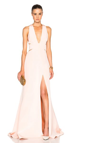 KAUFMAN FRANCO Crepe Gown - 100% silk.  Made in China.  Unlined.  Hidden back zip...