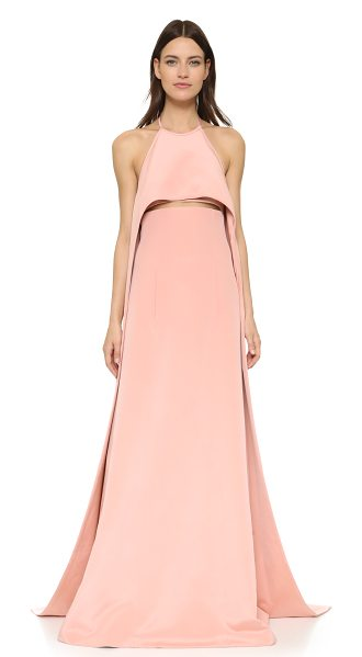 Kaufman Franco Layer racer back gown in pink
