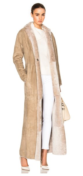 Kaufman Franco Merino Shearling Coat in neutrals - 100% real dyed double face lambskin shearling.  Made in...