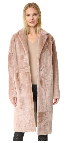KAUFMAN FRANCO Shearling coat - This luxe shearling KAUFMANFRANCO coat cuts a clean,...
