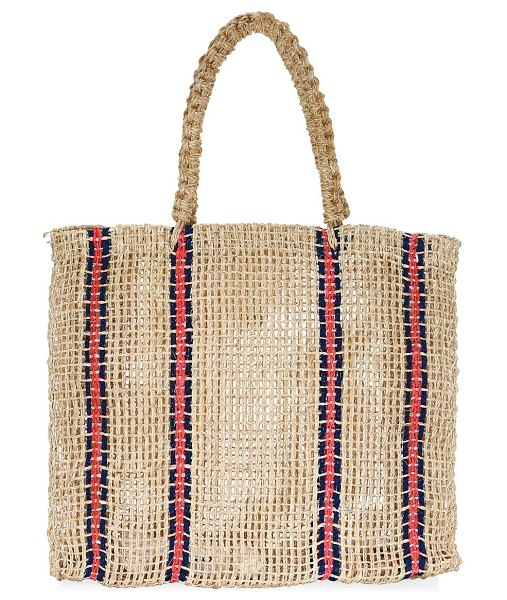 Kayu benitta striped tote in tan - From the Saks It List: Bold Stripes. Boasting an open...