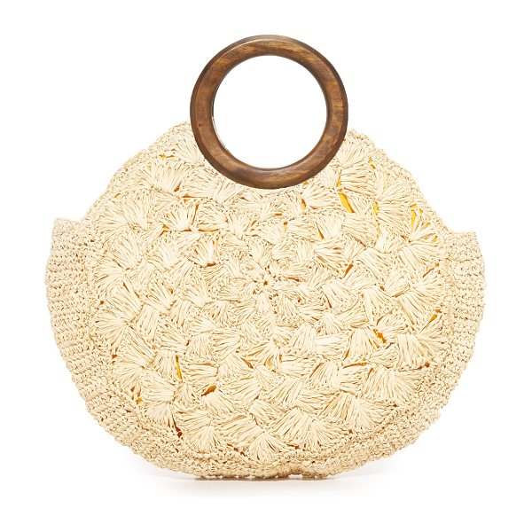 Kayu coco bag in natural - A slim Kayu tote in woven straw. Magnetic top. Lined,...