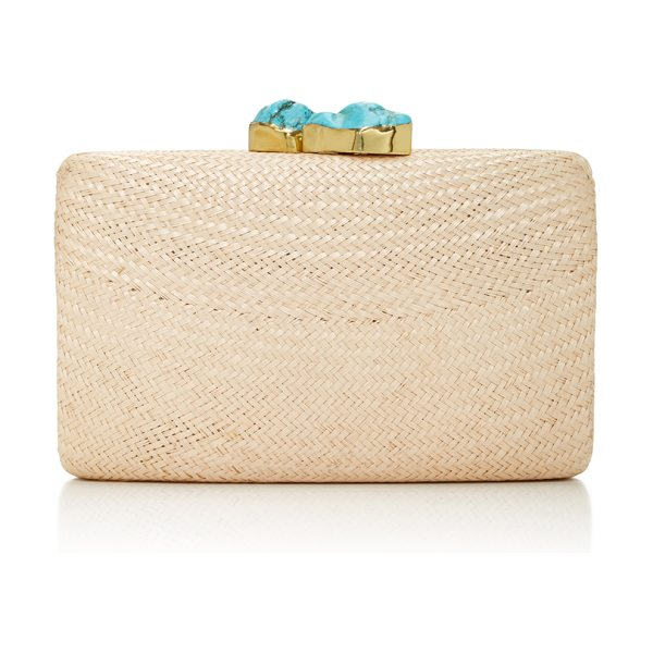 Kayu Jen Clutch in tan - This box clutch by *KAYU* is simple and elegant...