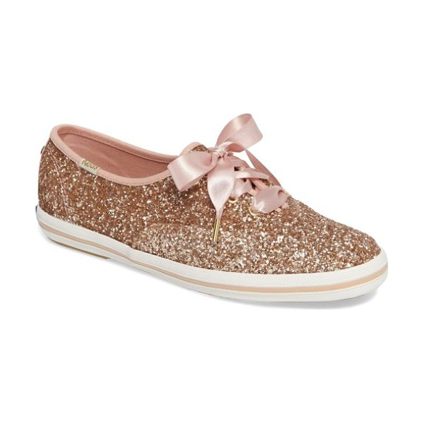 Keds for kate spade new York keds for kate spade new york glitter sneaker in rose gold - Keds teams up with kate spade for a glittery rendition...