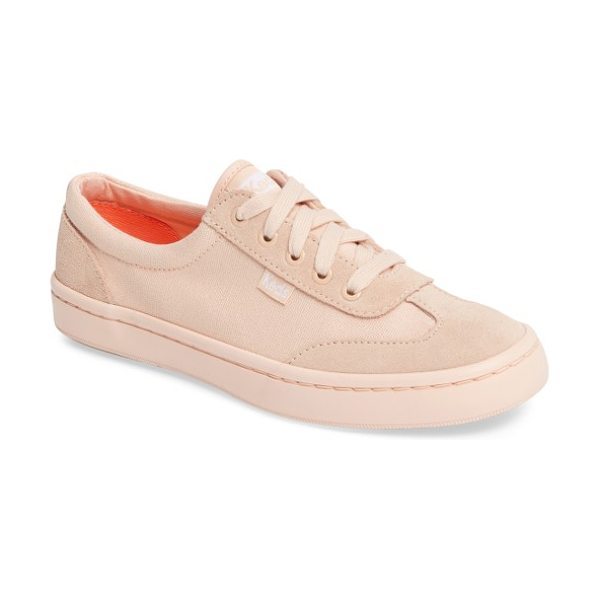 Keds keds tournament sneaker in peach - Tonal suede panels provide a polished twist for a...