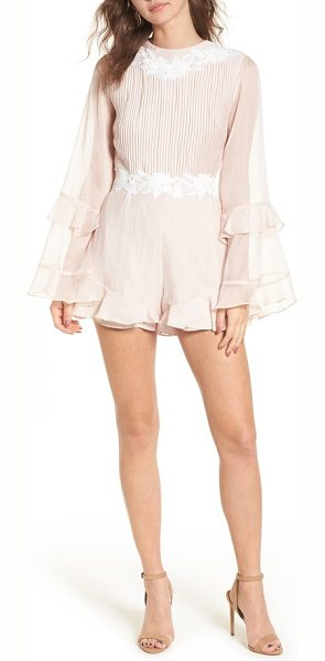 Keepsake all mine romper in shell - Make some movement wherever you go in this pleated...