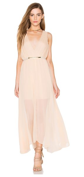 Keepsake All Rise Maxi Dress in beige - Poly blend. Dry clean only. Partially lined. Hidden side...