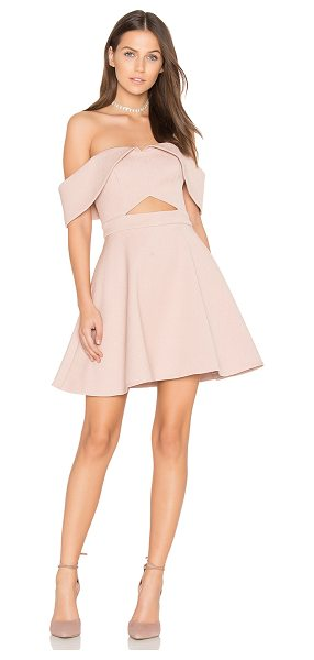 Keepsake Apollo Mini Dress in blush - Self: 96% poly 4% elastaneLining: 100% poly. Hand wash...