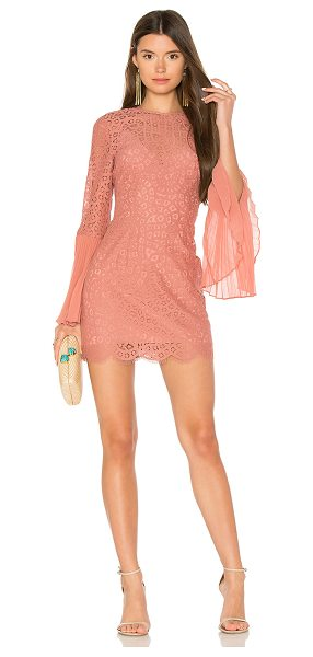 Keepsake Be The One Dress in rose - Cotton blend. Hand wash cold. Fully lined. Allover...