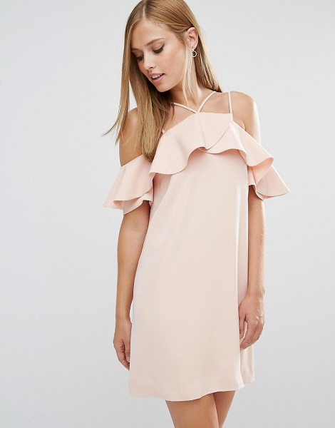 "Keepsake Bitter Sweet Dress with Frill in pink - """"Dress by Keepsake, Lined woven fabric, Off-shoulder..."
