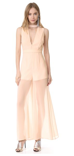 Keepsake come around jumpsuit in shell - A feminine Keepsake jumpsuit in soft, lightweight...