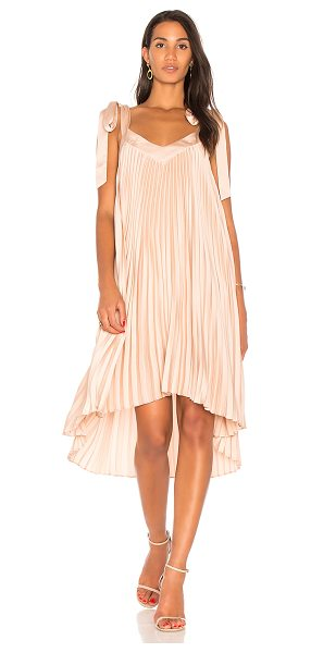 Keepsake Deep Water Dress in blush - Poly blend. Hand wash cold. Fully lined. Shoulder tie...
