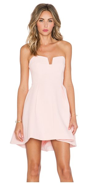 Keepsake Divide Mini Dress in pink - Main & Lining: 97% poly 3% elastane. Hand wash cold....