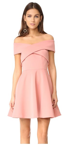 Keepsake end of time mini dress in rose - Wraparound panels form the off-shoulder neckline on this...