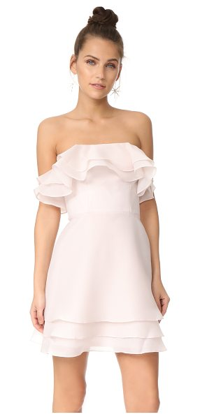 KEEPSAKE float mini dress - Layered ruffles add a delicate, airy feel to this...