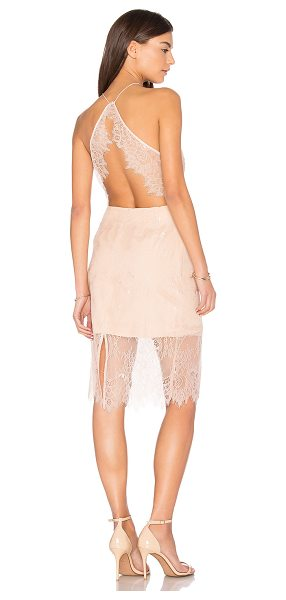 Keepsake Great Love Lace Dress in pink - Self: 100% nylonLining: 100% poly. Hand wash cold. Fully...