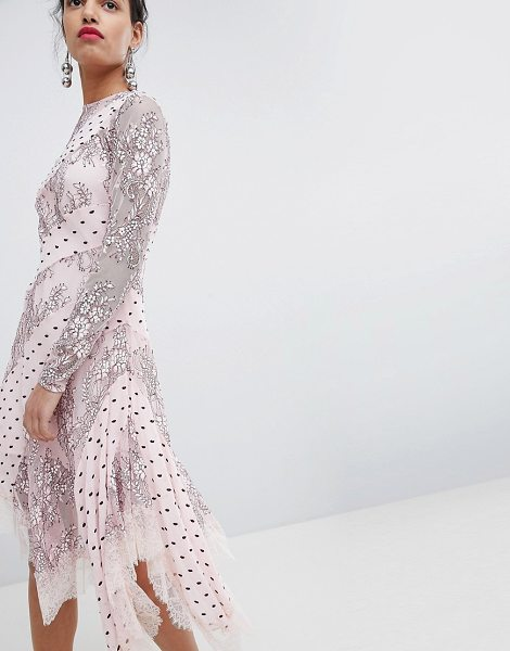Keepsake lace and spot midi dress in blush - Midi dress by Keepsake, Some days call for a little...
