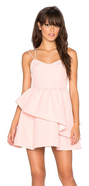 Keepsake Last stand dress in pink - 97% poly 3% spandex. Hand wash cold. Fully lined. Hidden...