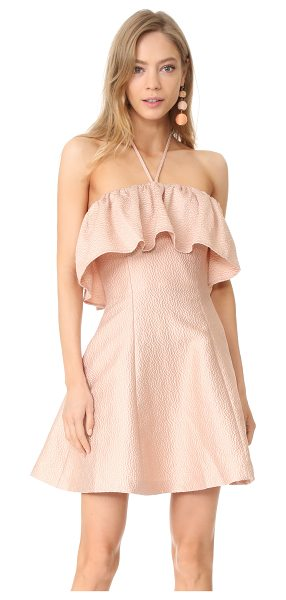Keepsake magnolia mini dress in peach - Allover puckered dots add unique texture to this...