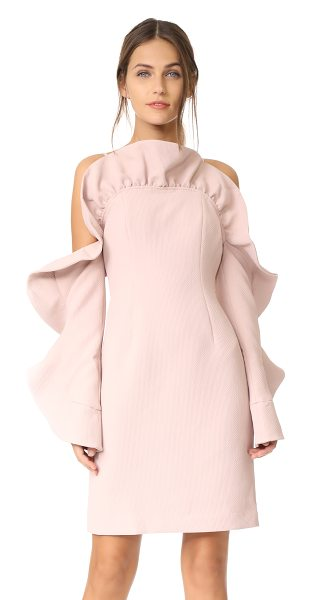 Keepsake messages mini dress in blush - This formfitting matelassé Keepsake mini dress has a...