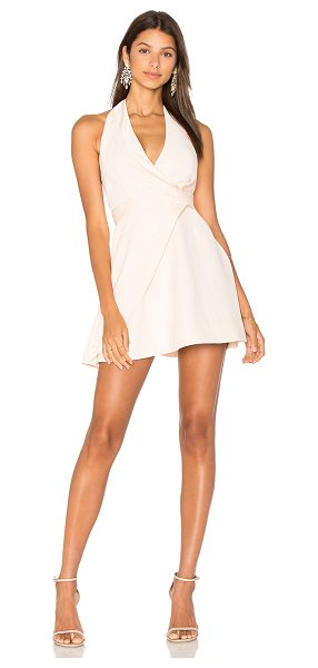 Keepsake Modern Things Mini Dress in blush - 100% poly. Hand wash cold. Fully lined. Halter strap...